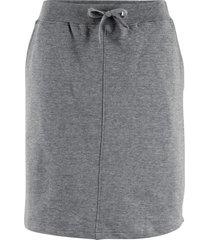 gonna in felpa con cinta a costine (grigio) - bpc bonprix collection