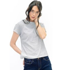 camiseta para mujer en poliester color-blanco-talla-xl