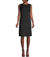 brett stretch virgin-wool sheath dress