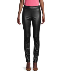 lela vegan leather pants