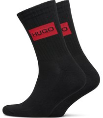 2p qs rib label cc underwear socks regular socks svart hugo