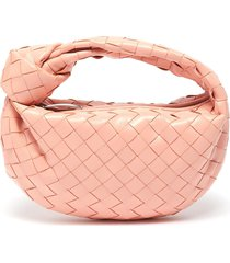 'mini bv jodie' knotted handle intrecciato leather clutch