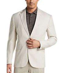joseph abboud tan casual coat