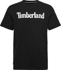 k-r brand linear t t-shirts short-sleeved svart timberland