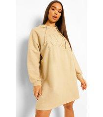 acid wash gebleekte nyc hoodie jurk, stone