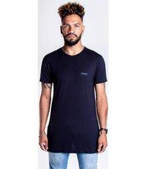 t-shirt longline preta - g - unissex