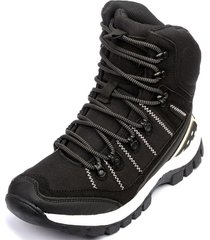 botin everest black chancleta