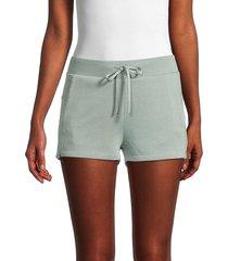 marc new york performance women's fleece drawstring shorts - sage - size s
