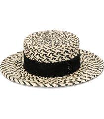maison michel mini kiki hat - brown