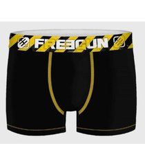 boxer negro costura amarilla freegun