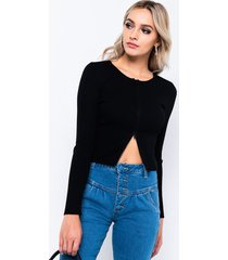 akira busy bee long sleeve front zip sweater
