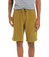 men's bp. ottoman knit drawstring shorts, size small - green