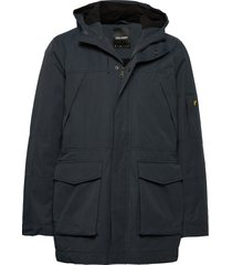panelled jacket parka jas blauw lyle & scott