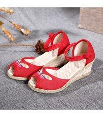 sandali con fibbia peep toe folkways