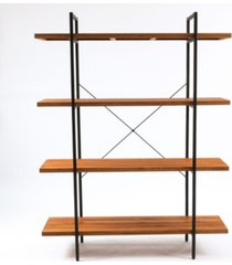 """luxen home 66.5"""" height 4-tier wood etagere bookcase"""