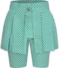 szorty zielone ze spódnicą