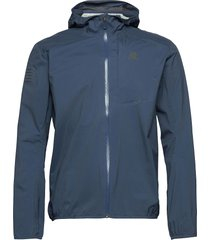 bonatti wp jkt m dark denim outerwear sport jackets blauw salomon