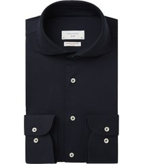 profuomo knitted overhemd navy