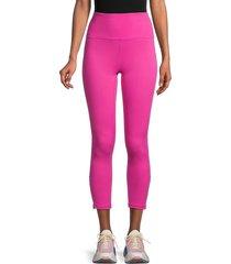 nine west women's zip-hem leggings - pink - size xl