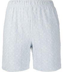light blue jacquard logo shorts