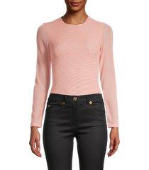 alice + olivia by stacey bendet women's long-sleeve bodysuit - rose tan - size s