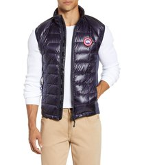 men's canada goose 'hybridge(tm) lite' slim fit packable quilted 800-fill down vest, size x-small - blue