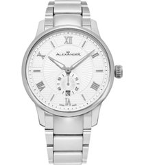 alexander watch a102b-01, stainless steel case on stainless steel bracelet