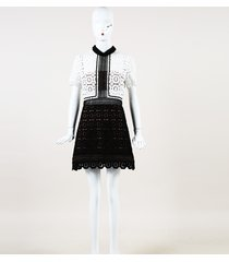"self portrait color block lace mix ""felicia"" dress"