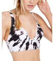 bar iii tie-dye bikini top, created for macy's women's swimsuit