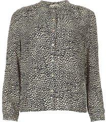 blouse met print julian  zwart