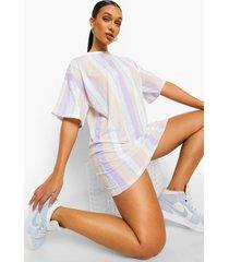gestreepte oversized t-shirt-jurk, meerdere