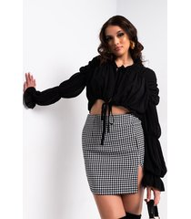 akira milly tie front long sleeve blouse
