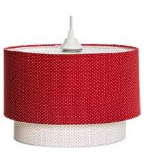 lustre tubular duplo vermelho potinho de mel vermelho