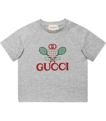 gucci gucci tennis t-shirt in cotton