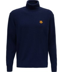 kenzo sweater with tiger patch logo