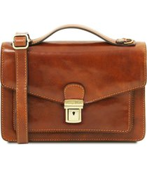 tuscany leather tl141443 eric - borsello in pelle a tracolla miele