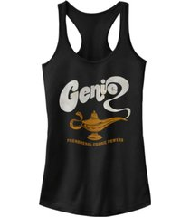 disney juniors' aladdin genie cosmic powers ideal racerback tank top