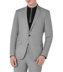 men's topman skinny fit suit jacket, size 34 r - grey