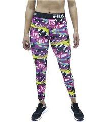 lycra multicolor fila pantalon