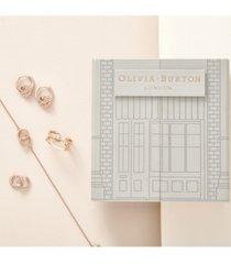 olivia burton 4-pc. set logo bracelet, hoop earrings & ring
