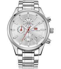 reloj análogo f0081g-2 hombre blanco