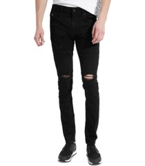 guess men's skinny-fit zipper moto jeans