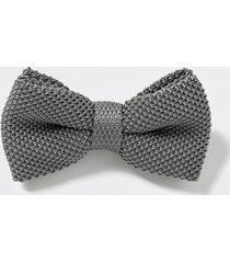 river island mens grey textured bow tie