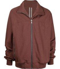 rick owens high-neck zipped sweatshirt