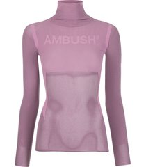 ambush mesh panelled top - pink
