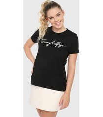 camiseta negro-blanco tommy hilfiger
