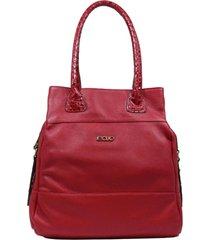 bolsa em couro recuo fashion bag totem cereja