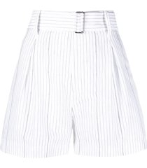 n.21 white/blue/grey cotton shorts