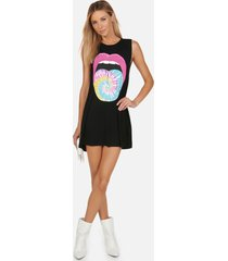 deanna tie dye tongue - xl black