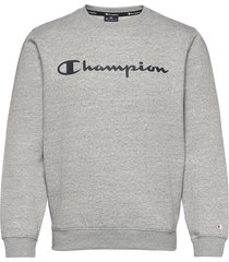 crewneck sweatshirt sweat-shirt tröja grå champion